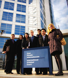 In 2011, students visited the International Criminal Court in the Netherlands.