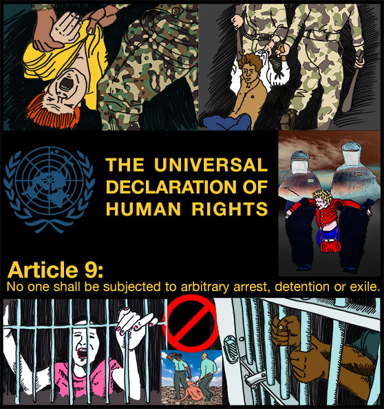 Figure 6: Designer's sample page to show how a contest might be used to illustrate the Universal Declaration of Human Rights.