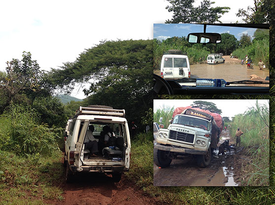 Traveling on the roads in remote villages in the Fizi region of South Kivu, in the Democratic Republic of the Congo.